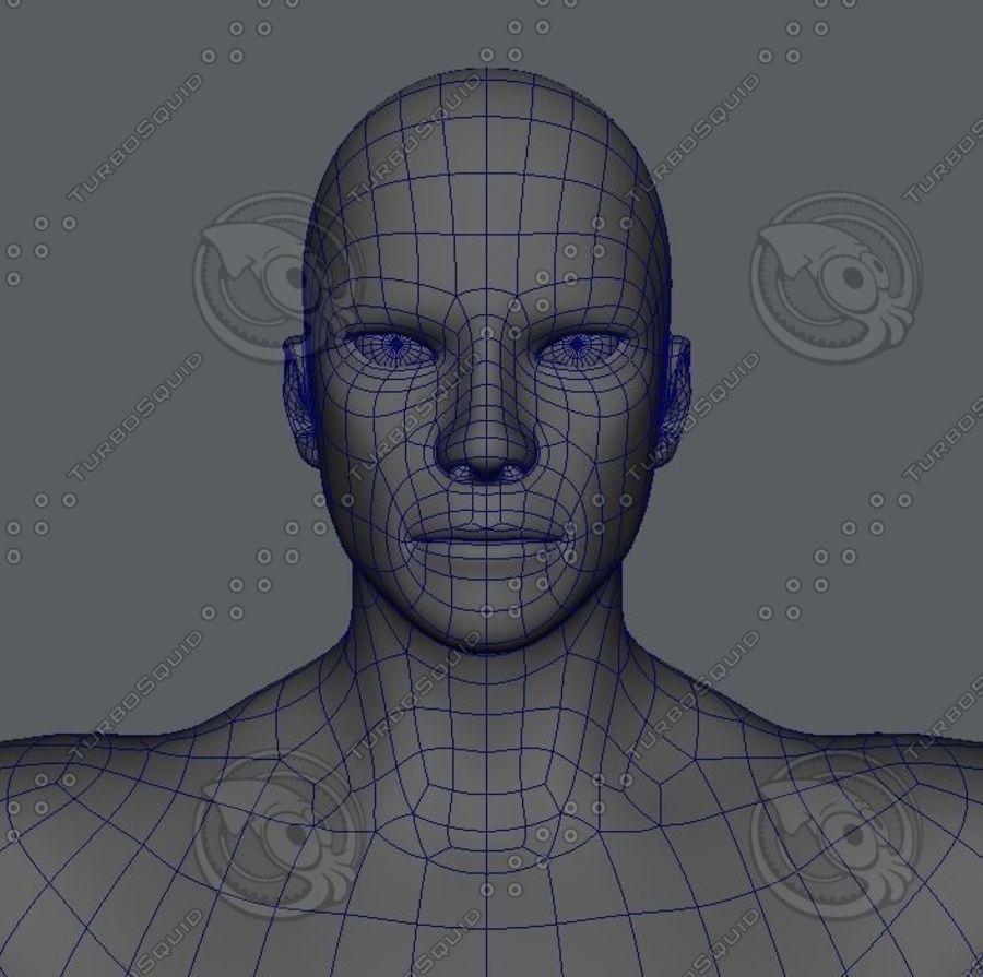 Base mesh man character royalty-free 3d model - Preview no. 5