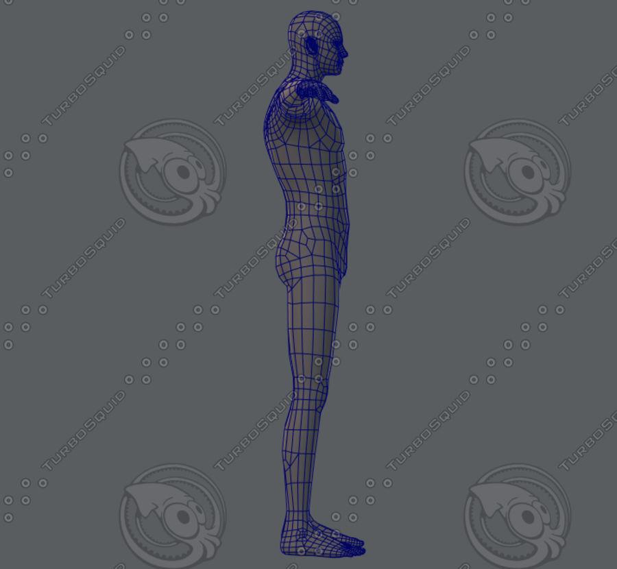 Base mesh man character royalty-free 3d model - Preview no. 30