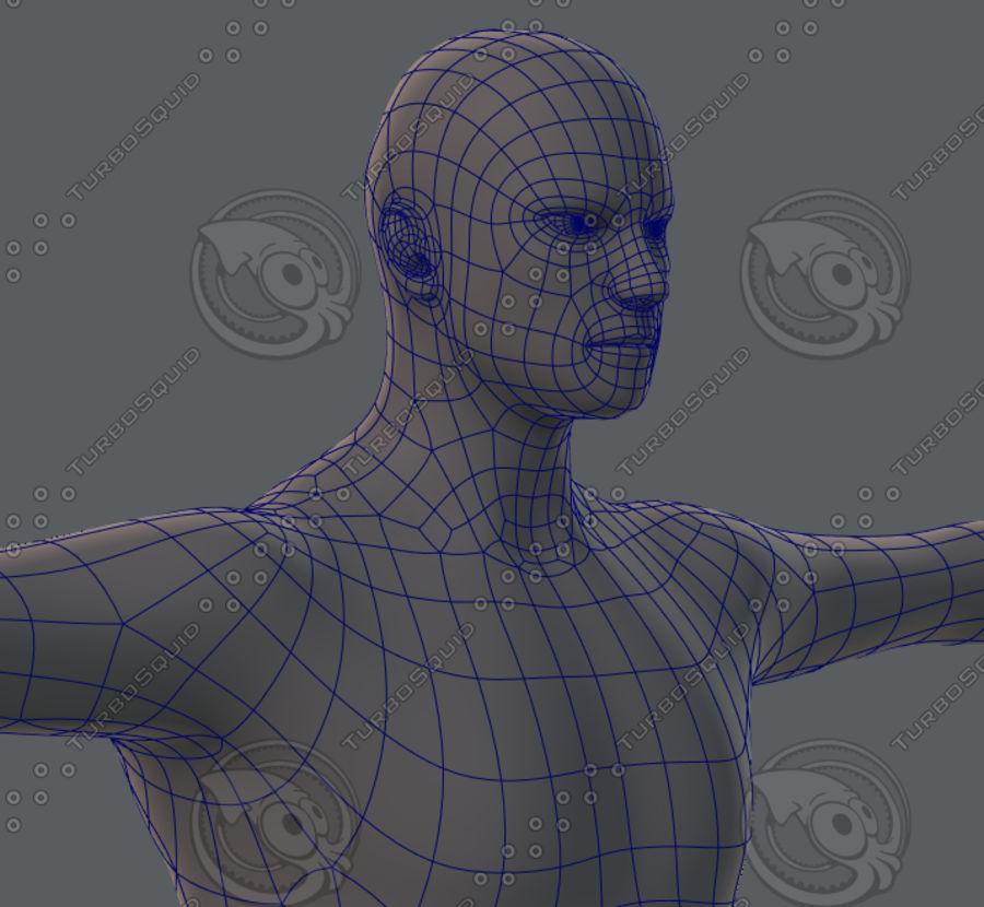 Base mesh man character royalty-free 3d model - Preview no. 45