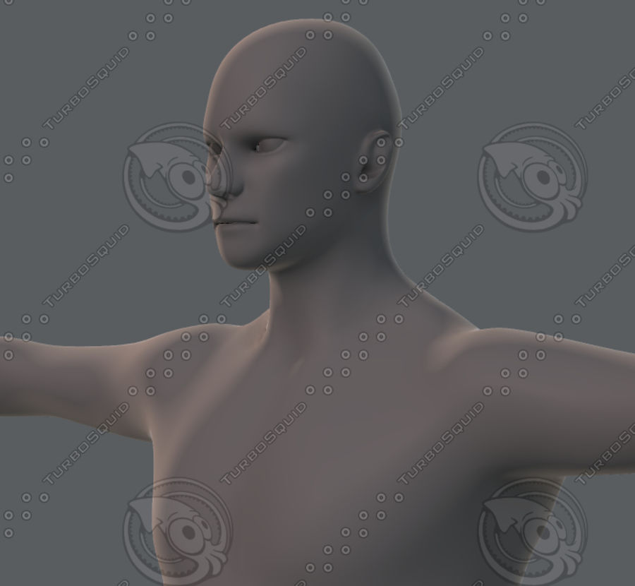 Base mesh man character royalty-free 3d model - Preview no. 43