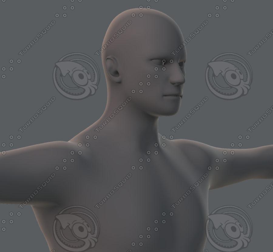 Base mesh man character royalty-free 3d model - Preview no. 37