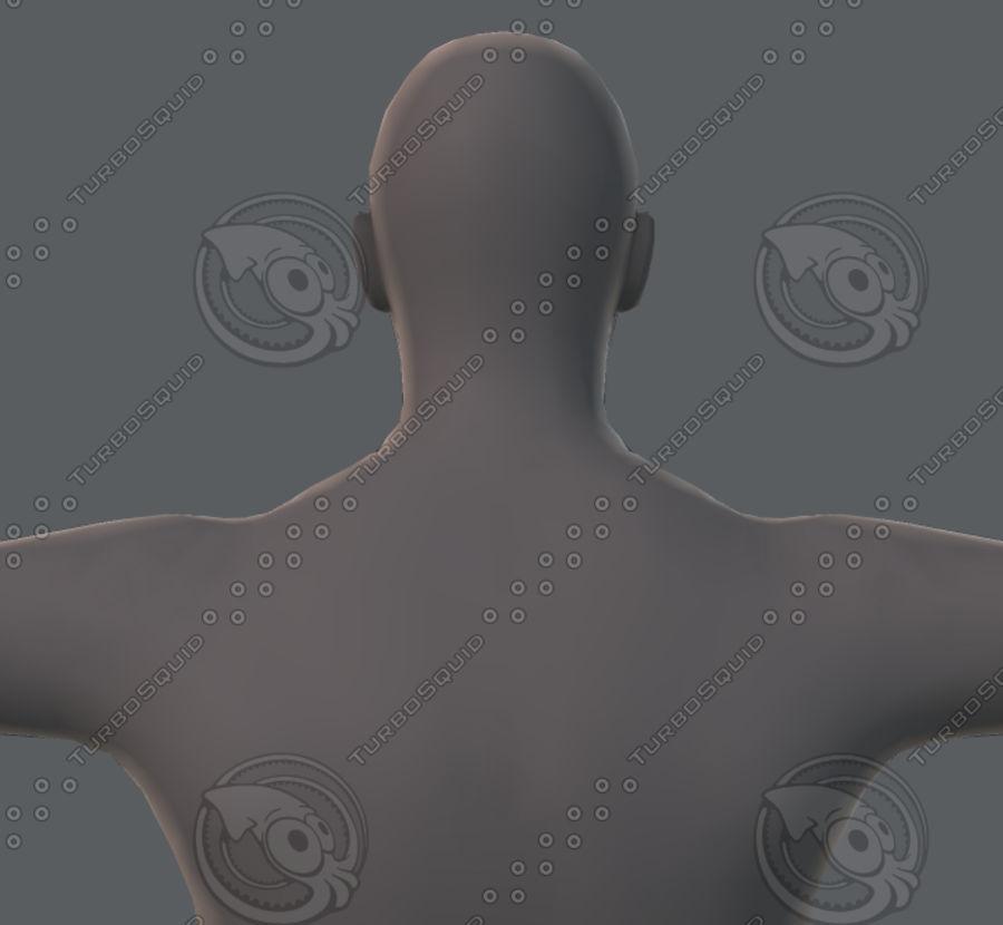 Base mesh man character royalty-free 3d model - Preview no. 56