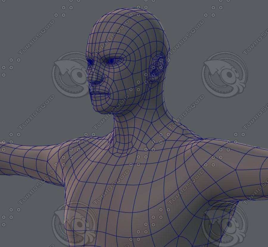 Base mesh man character royalty-free 3d model - Preview no. 51