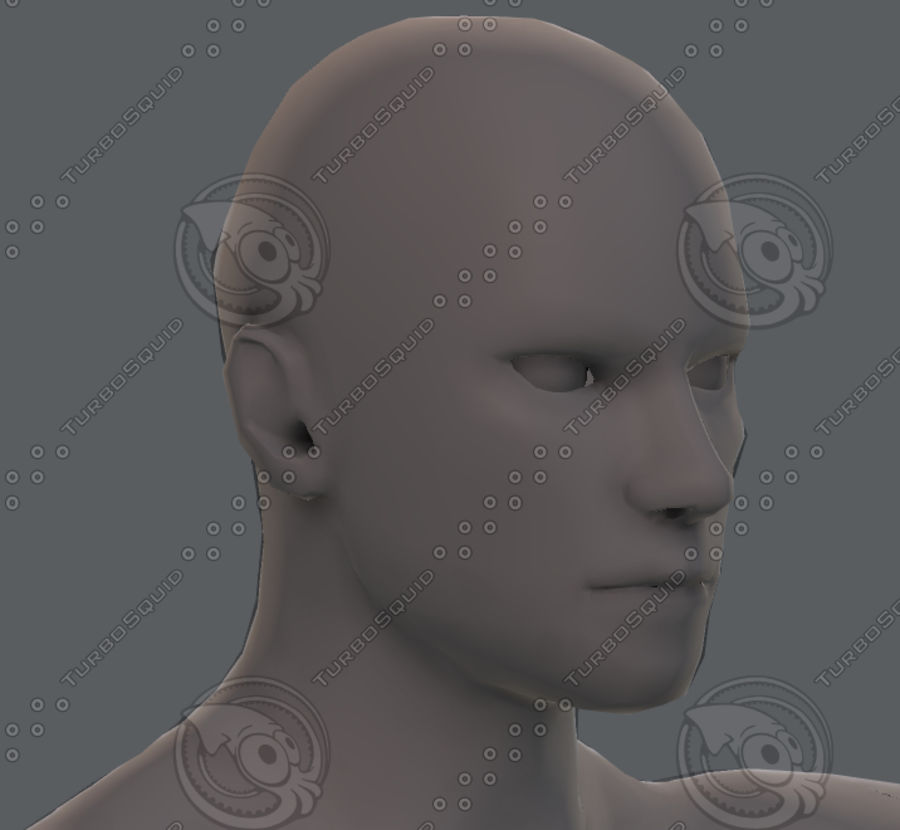Base mesh man character royalty-free 3d model - Preview no. 70