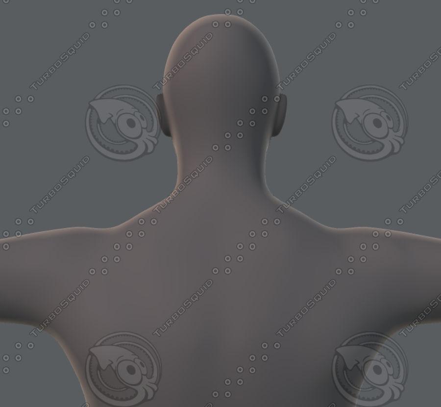 Base mesh man character royalty-free 3d model - Preview no. 40