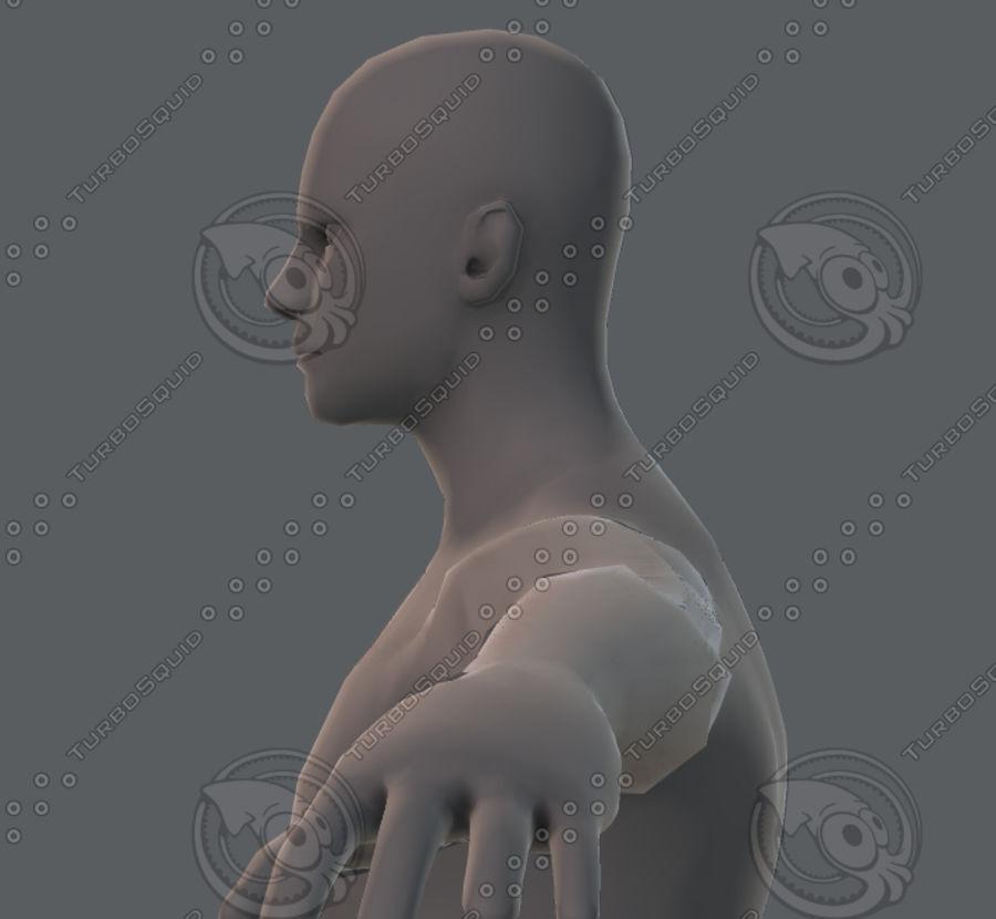 Base mesh man character royalty-free 3d model - Preview no. 58