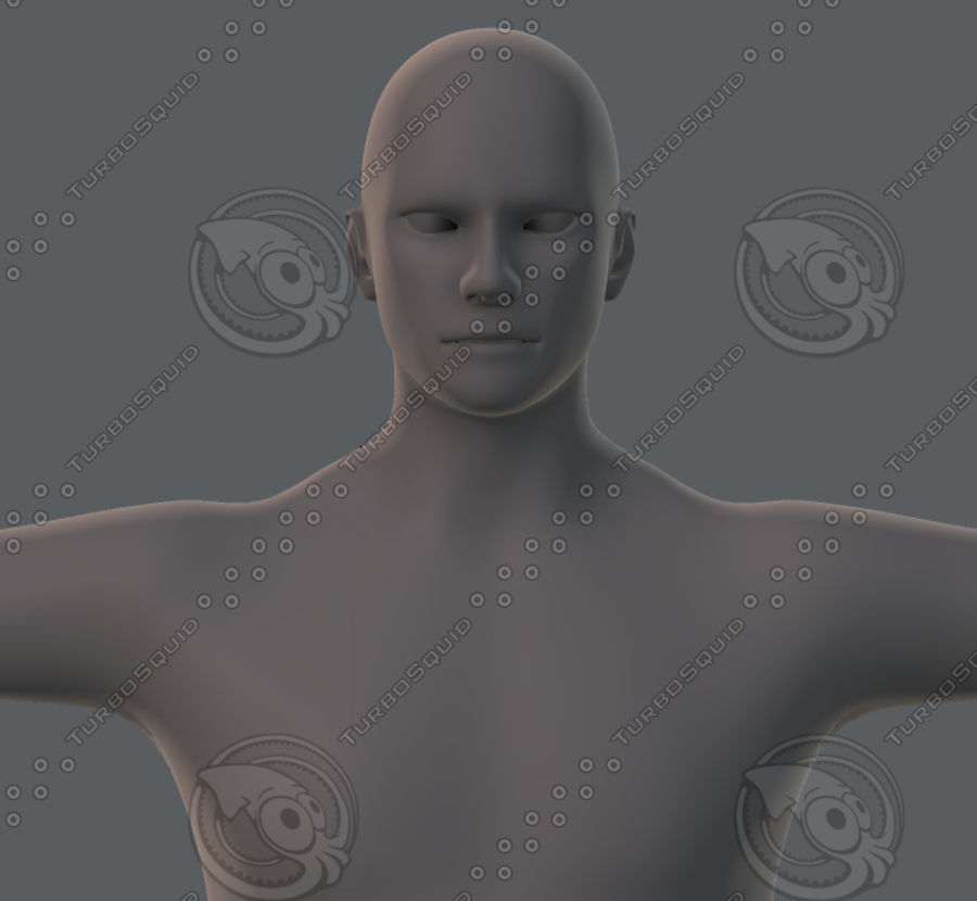 Base mesh man character royalty-free 3d model - Preview no. 36
