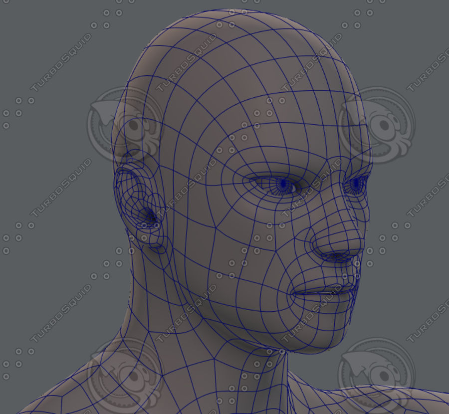 Base mesh man character royalty-free 3d model - Preview no. 72