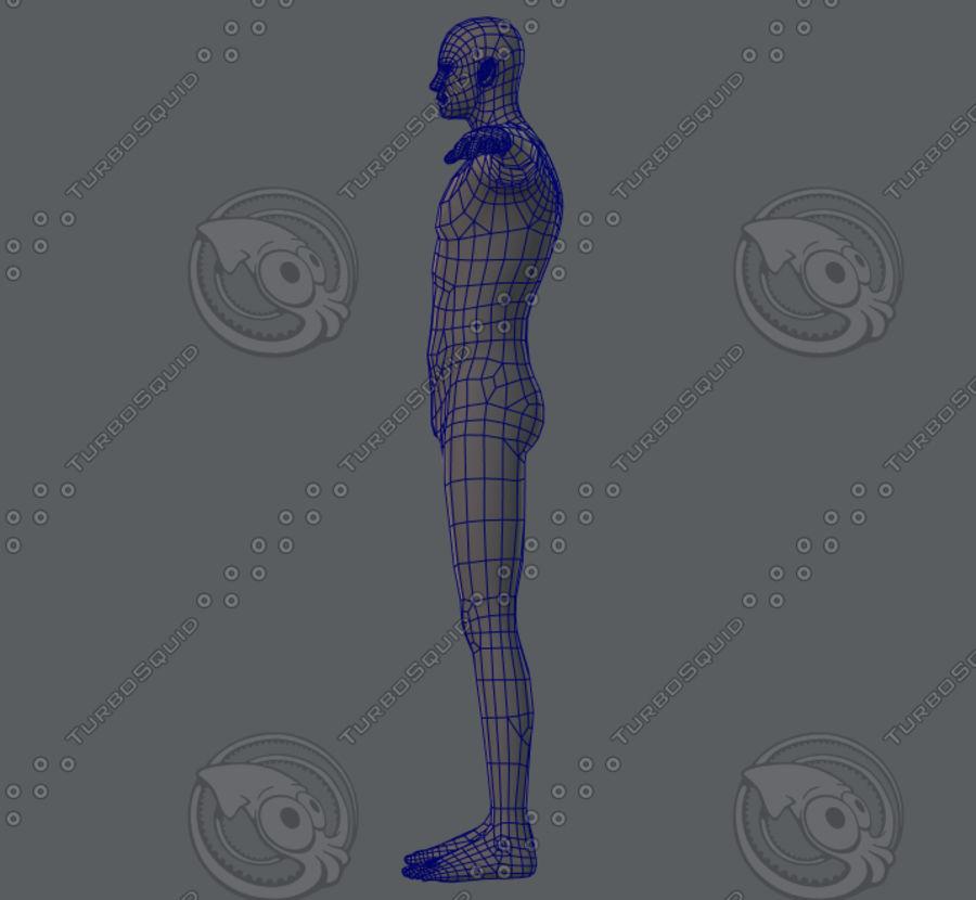 Base mesh man character royalty-free 3d model - Preview no. 34