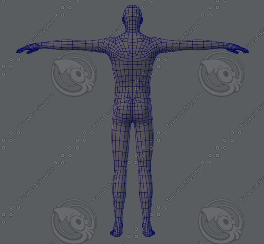 Base mesh man character royalty-free 3d model - Preview no. 16