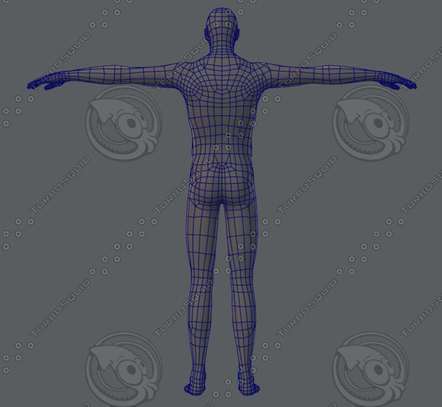 Base mesh man character royalty-free 3d model - Preview no. 32