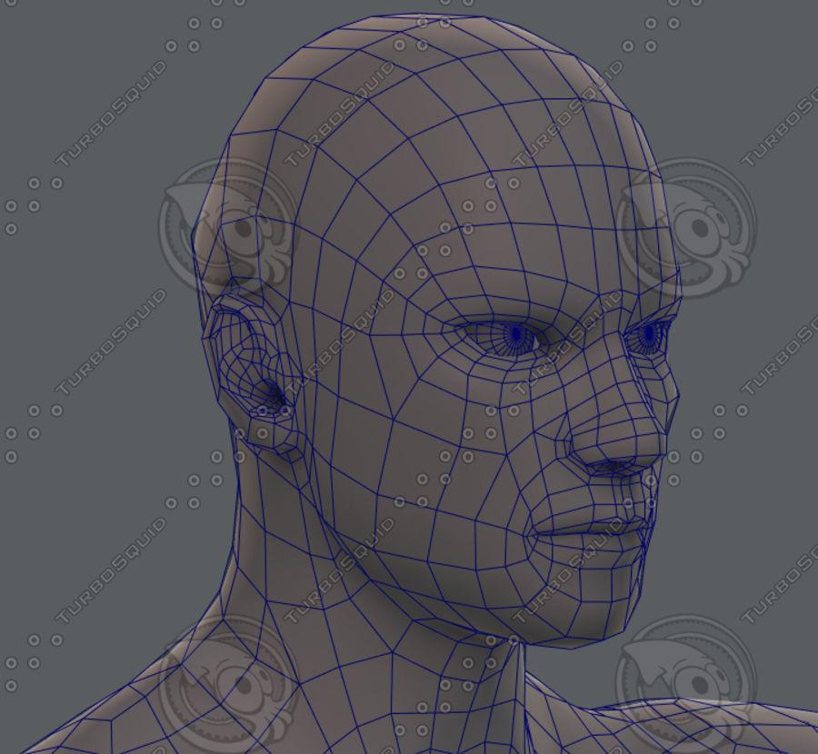 Base mesh man character royalty-free 3d model - Preview no. 71