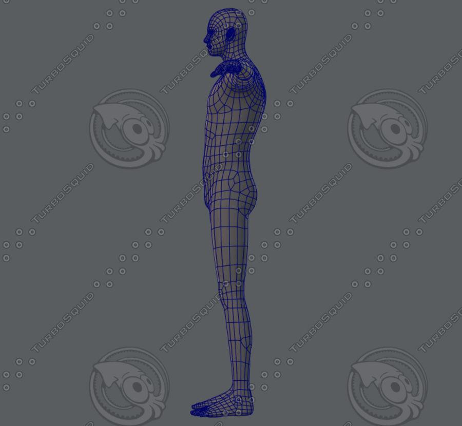 Base mesh man character royalty-free 3d model - Preview no. 18