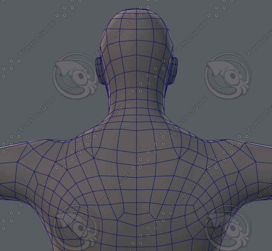 Base mesh man character royalty-free 3d model - Preview no. 64
