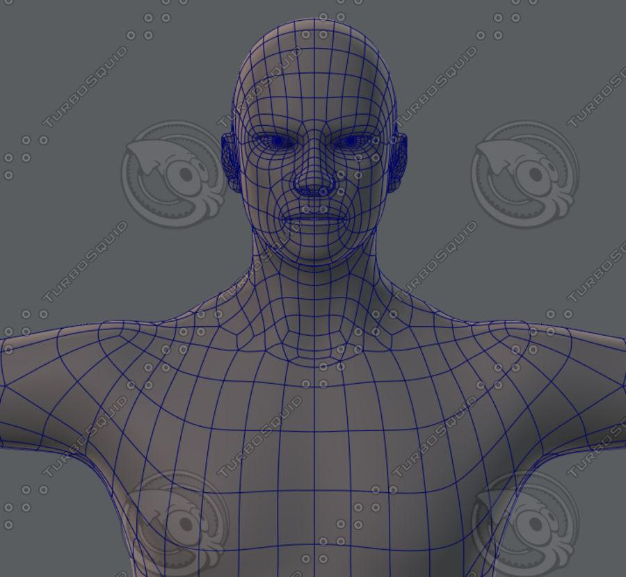 Base mesh man character royalty-free 3d model - Preview no. 44