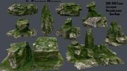 skały leśne 3d model