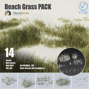 Pack de césped de playa modelo 3d