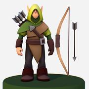 Handpaint Cartoon Archer Scout MMO rpg Character 3d model