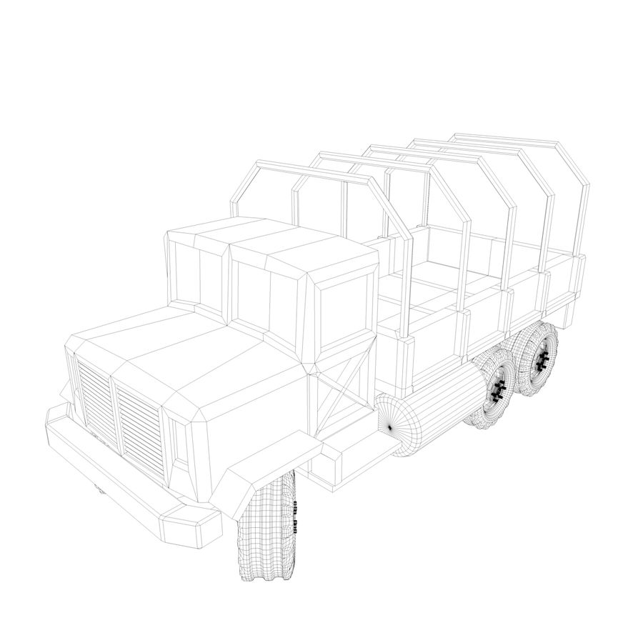 Military Vehicles Pack royalty-free 3d model - Preview no. 17