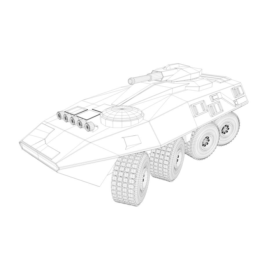 Military Vehicles Pack royalty-free 3d model - Preview no. 37