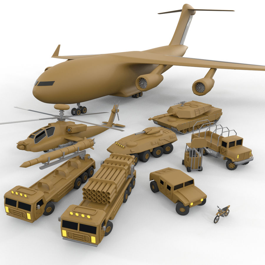 Military Vehicles Pack royalty-free 3d model - Preview no. 1