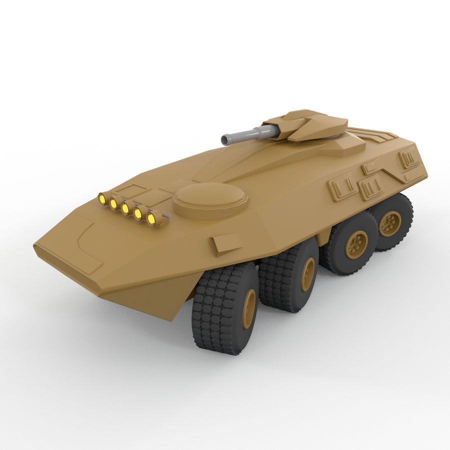 Military Vehicles Pack royalty-free 3d model - Preview no. 36