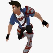 Stiliserad manlig karaktär 3d model