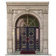 Ingång klassisk dörr 3d model