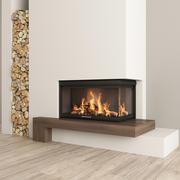暖炉と薪2 3d model