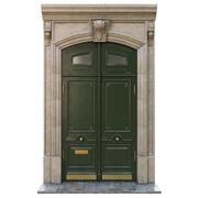 Ingång klassisk dörr 02 3d model