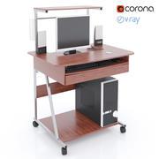 컴퓨터 책상 3d model