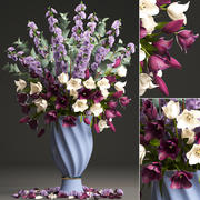 Bouquet de tulipes fleurs de printemps 3d model