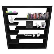 Modern Book Shelf & Items 3d model
