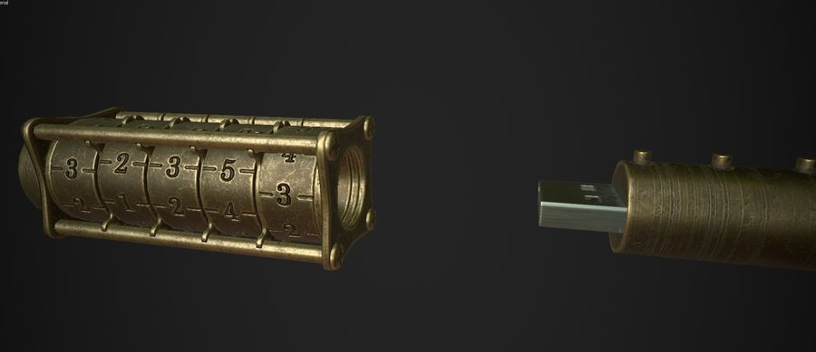 USB Flash Drive royalty-free 3d model - Preview no. 10