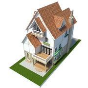 Anime House Light 3d model