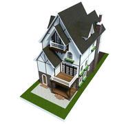Anime House Dark 3d model