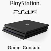 索尼PlayStation 4 Pro游戏机 3d model