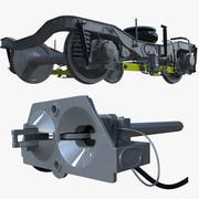Metro bogie & coupler 3d model