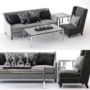 Bernhardt Palisades Sofa et Driscoll Chair 3d model