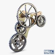 Gear Mechanism Low Poly v 4 3d model