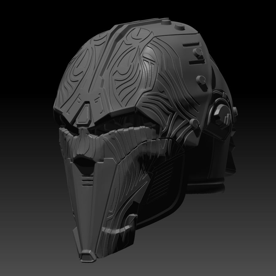Casco SWTOR Lord Adraas Acolyte modello 3D stampabile royalty-free 3d model - Preview no. 1