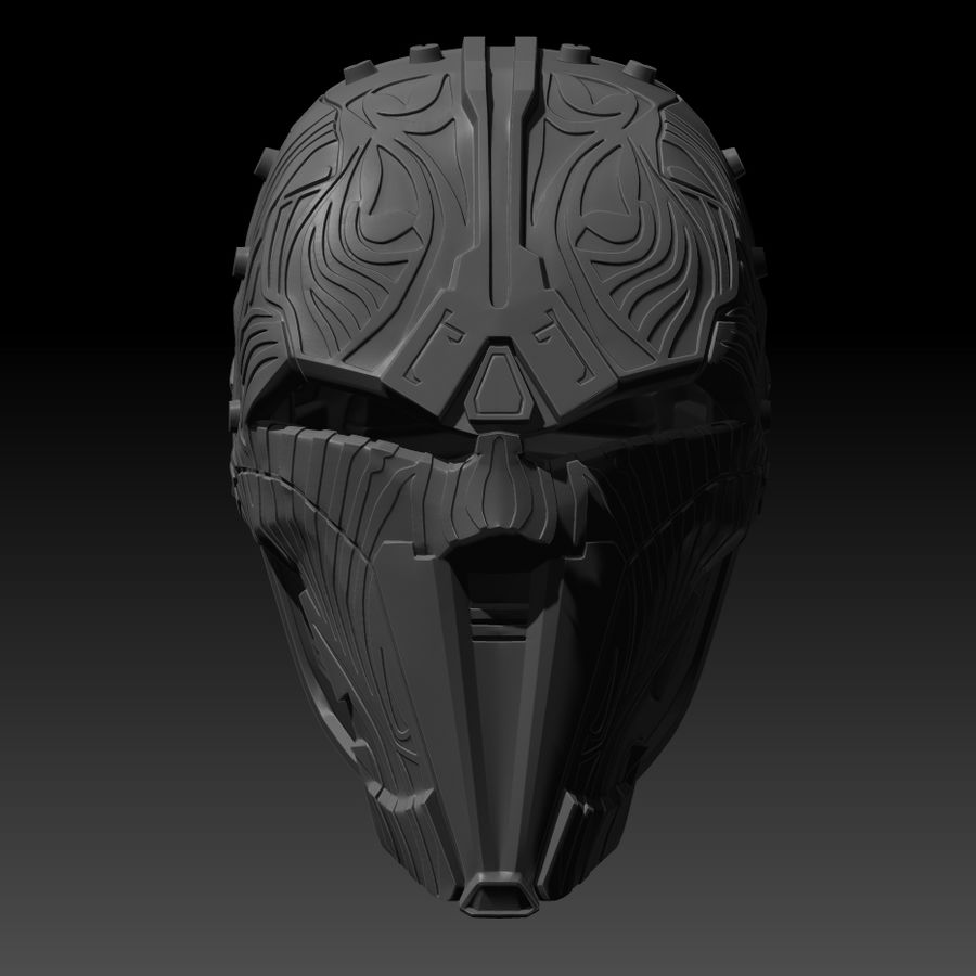 Casco SWTOR Lord Adraas Acolyte modello 3D stampabile royalty-free 3d model - Preview no. 2