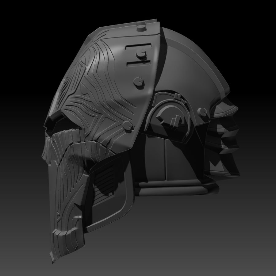 Casco SWTOR Lord Adraas Acolyte modello 3D stampabile royalty-free 3d model - Preview no. 3