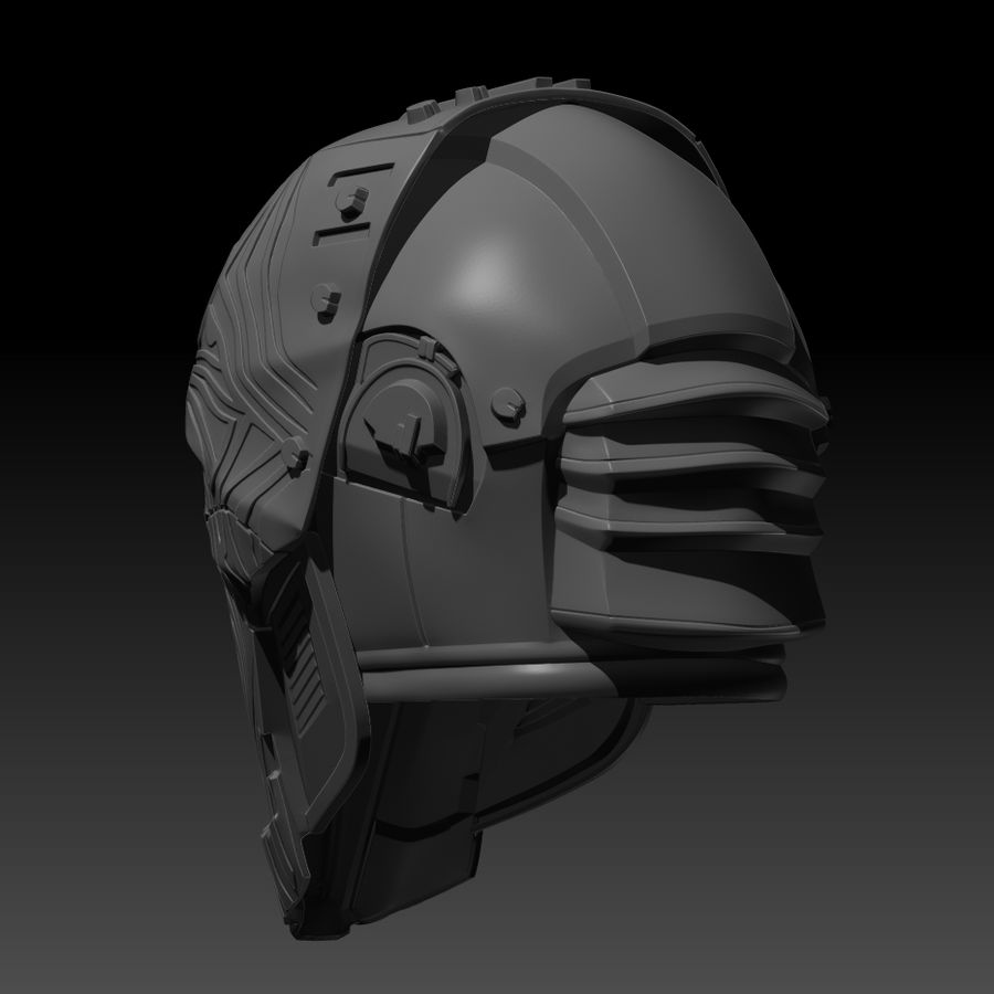 Casco SWTOR Lord Adraas Acolyte modello 3D stampabile royalty-free 3d model - Preview no. 4