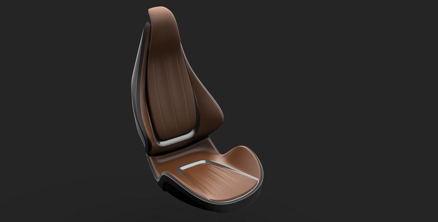 car seat royalty-free 3d model - Preview no. 8