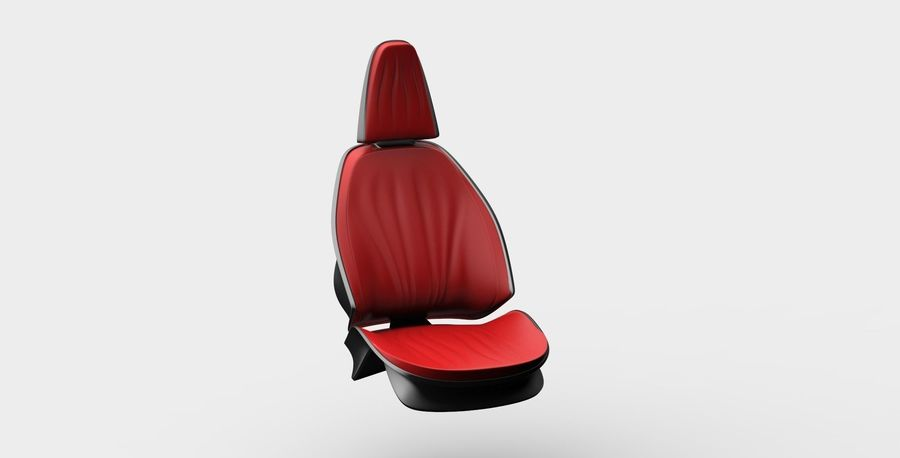 car seat royalty-free 3d model - Preview no. 12