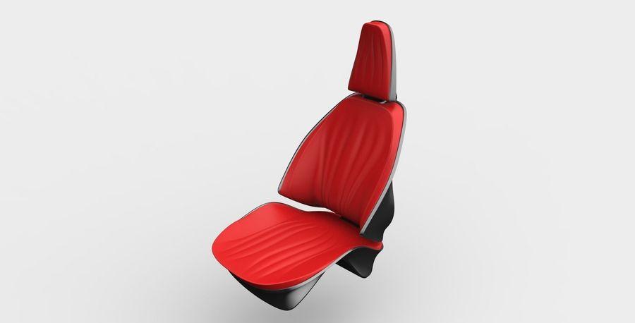 car seat royalty-free 3d model - Preview no. 11