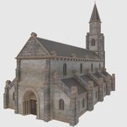 Европейская Церковь - Низкополигональная 3d model