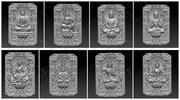 eight buddhas 3d model