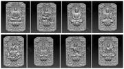 huit bouddhas 3d model